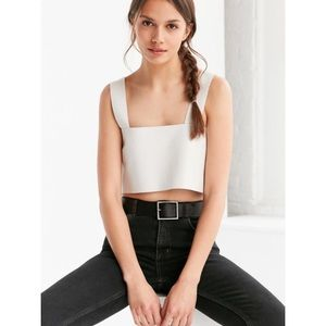 Urban outfitters silence+noise Jensen leather top